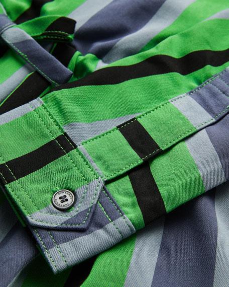 Crissida Long-Sleeve Striped Dress, Size 4-14
