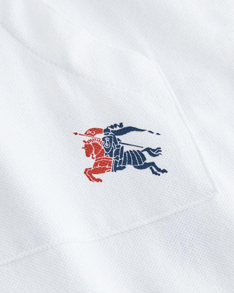 Abia Striped-Trim Footie Pajamas w/ Hat, Size 1-9 Months