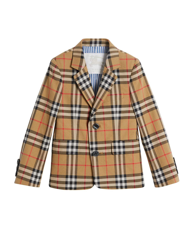 Burberry Tuxy Check Cotton Blazer 1dbbeb86dac7f