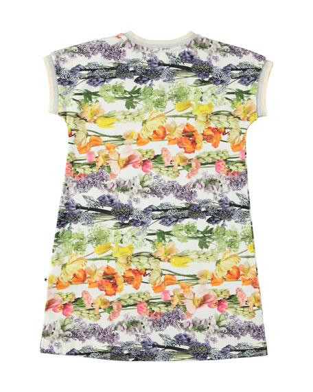 California Floral-Print V-Neck Dress, Size 2T-12