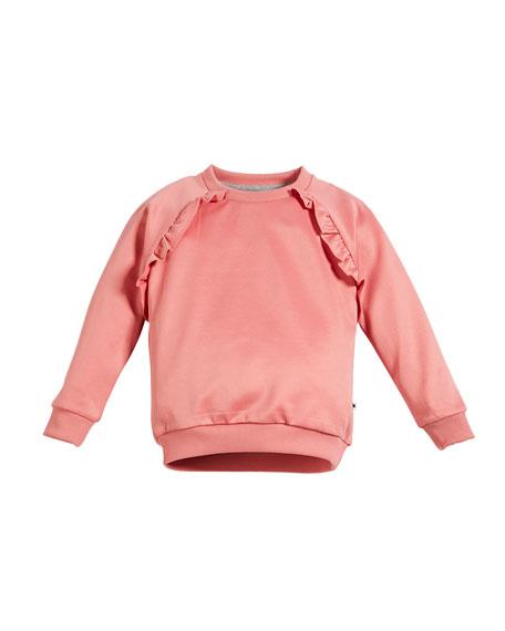 Michaela Ruffle-Trim Sweatshirt, Size 3-12