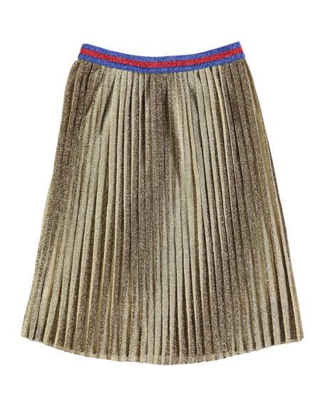 Bailini Metallic Pleated Skirt, Size 3T-12