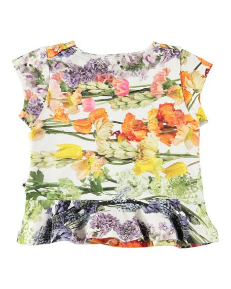 Ebba Peplum-Hem Floral-Print Tee, Size 6-24 Months