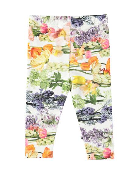 Stefanie Floral-Print Leggings, Size 6-24 Months