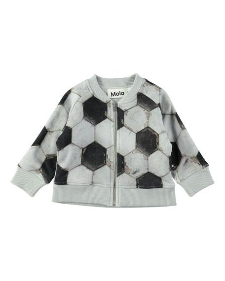 Sear Zip-Up Soccer Ball-Print Jacket