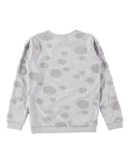 Manee Long-Sleeve Pullover Sweatshirt w/ Dot Detail