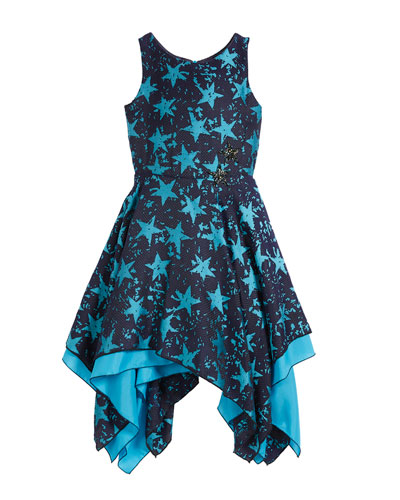 All Star Jacquard Sleeveless Dress, Size 4-6X