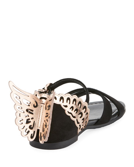 Evangeline Crisscross Butterfly-Wing Sandals, Toddler/Kid