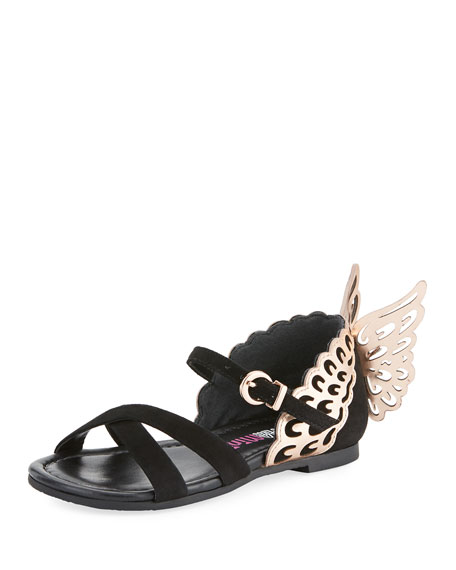 Sophia Webster Evangeline Crisscross Butterfly-Wing Sandals,