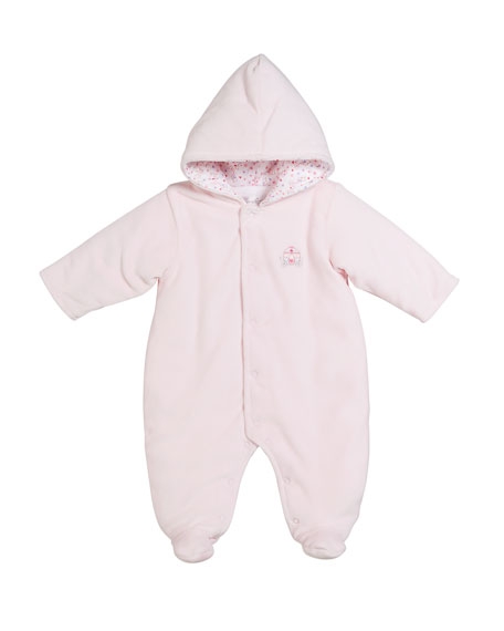Queen of the Castle Velour Footie Bunting, Size 0-9 Months