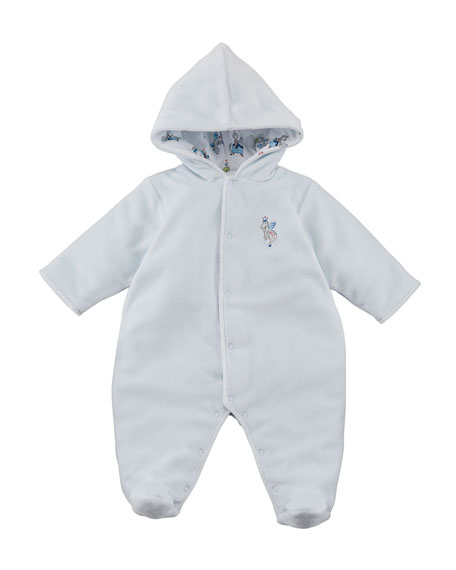King of the Castle Velour Footie Bunting, Size 0-9 Months