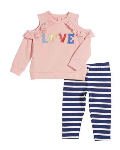 love two-piece outfit set, size 12-24 months