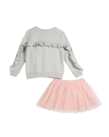 skirt the rules sweatshirt w/ tulle skirt, size 2-6x