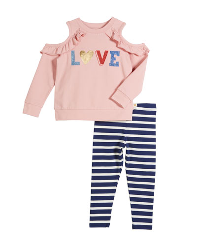 love two-piece outfit set, size 2-6x