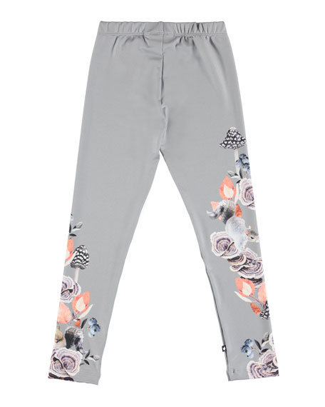 Nikia Squirrel-Print Leggings, Size 2-12