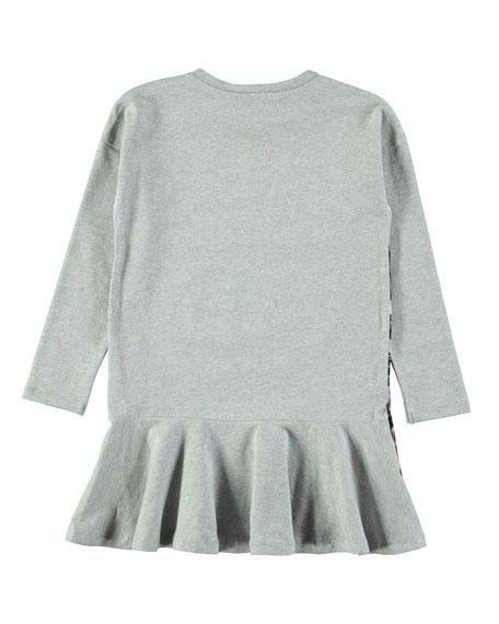 Claire Long-Sleeve Deer-Print Dress, Size 2T-12