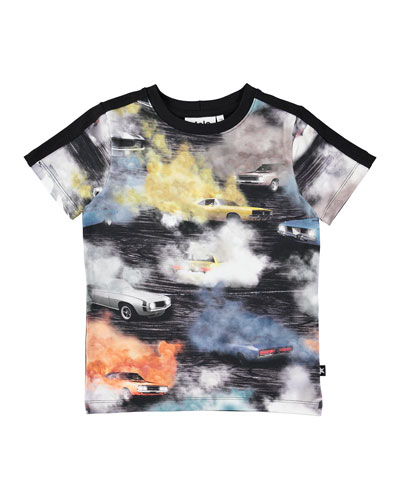 Rishi Car Smoke Short-Sleeve Tee, Size 4-12