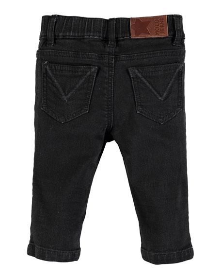Sonny Black Straight-Leg Denim Jeans, Size 6-24 Months