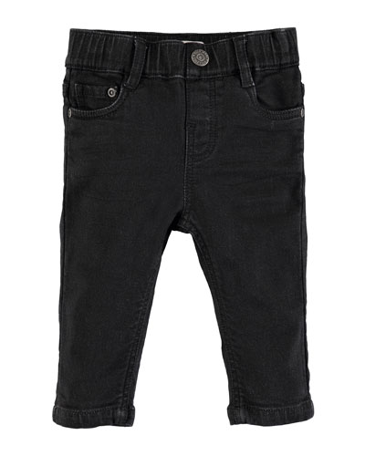 Sonny Black Straight-Leg Denim Jeans, Size 6-24 Months