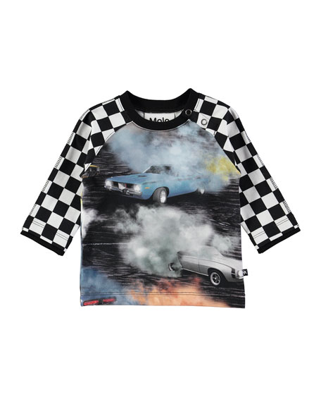 Elton Cars Smoke & Checkered T-Shirt, Size 6-24 Months