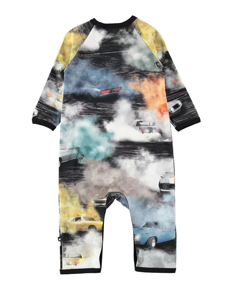 Fleming Cars Smoke Coverall, Size 3-12 Months
