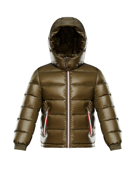 Gastonet Puffer Jacket w/ Tricolor Zippers, Size 8-14