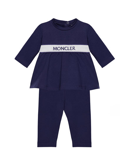 Moncler Completo Banded Top & Pants Set, Navy,