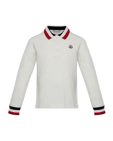 Maglia Long-Sleeve Polo Shirt, Size 8-14