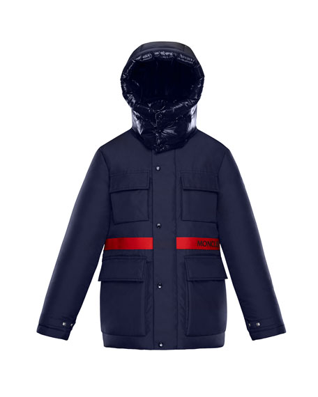 Perpignan Mixed-Material Hooded Jacket, 4-6