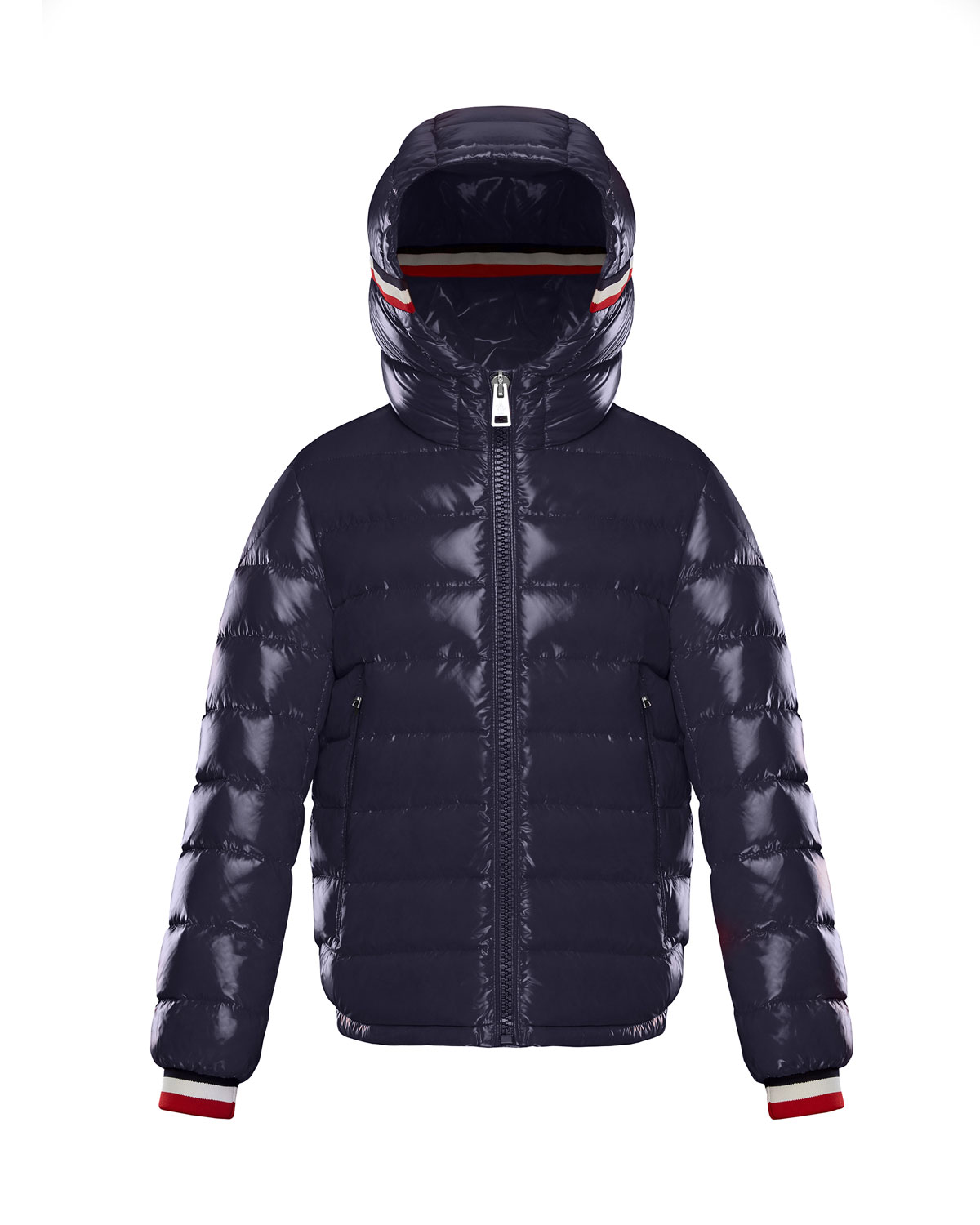 5e52f40aae5a Moncler Alberic Puffer Jacket w  Flag Details