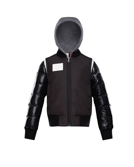 Montpellier Mixed-Media Hooded Jacket, Size 8-14