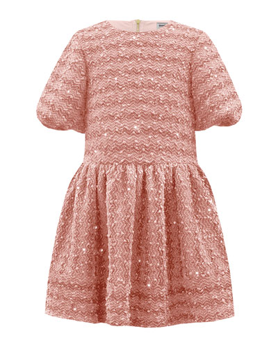 Sparkle Boucle Knit Dress, Size 3-12