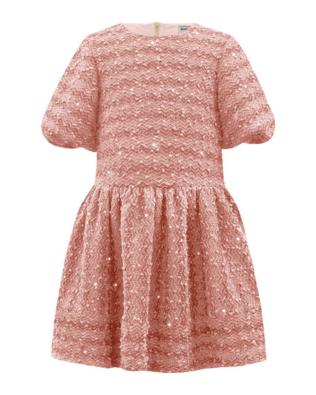 David Charles Sparkle Boucle Knit Dress, Size 3-12
