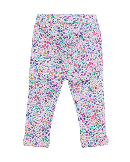 Amalie Mouse Long-Sleeve Top w/ Floral Pants, Size 3-24 Months