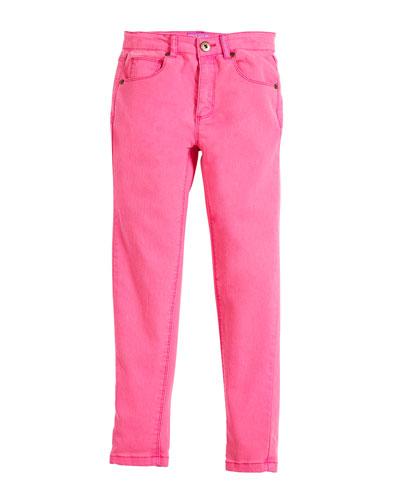 Linnet Cotton-Stretch Jeans, Size 3-10