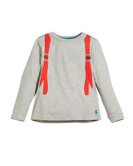 Joules Animate Illusion Backpack Long-Sleeve T-Shirt, Size 2-6