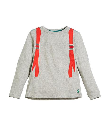 Animate Illusion Backpack Long-Sleeve T-Shirt, Size 2-6
