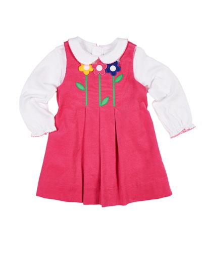 3c2220a95e9c Pleated Corduroy Dress w  Long-Sleeve Top Size 2-6X