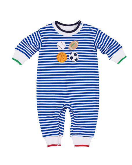 Florence Eiseman Striped Sports Coverall, Size 3-18 Months