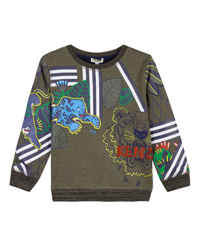 Multi-Tiger Icon Sweatshirt, Size 8-12