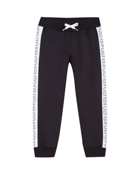 Kenzo Tricot Jogger Pants w/ Logo Tape Sides,