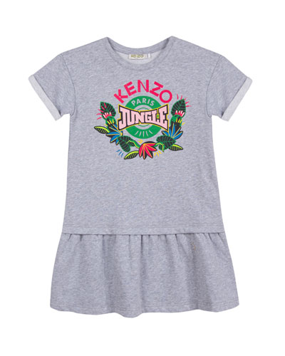 Kenzo Jungle Drop-Waist Dress, Size 8-12