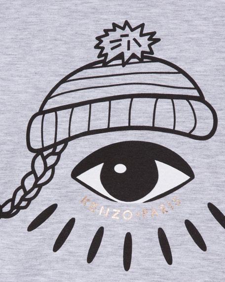 Long-Sleeve Eye-Print Tee, Size 14-16