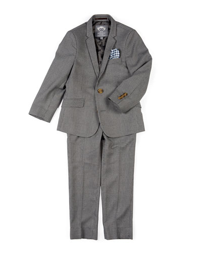Boys' Two-Piece Mod Glen Plaid Suit, 2-14