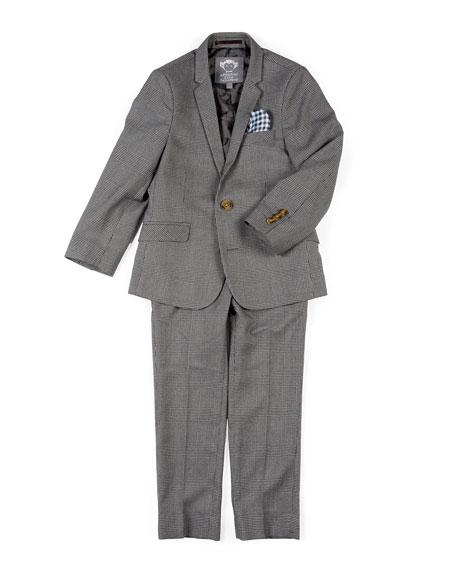 Appaman Boys' Two-Piece Mod Glen Plaid Suit, 2-14