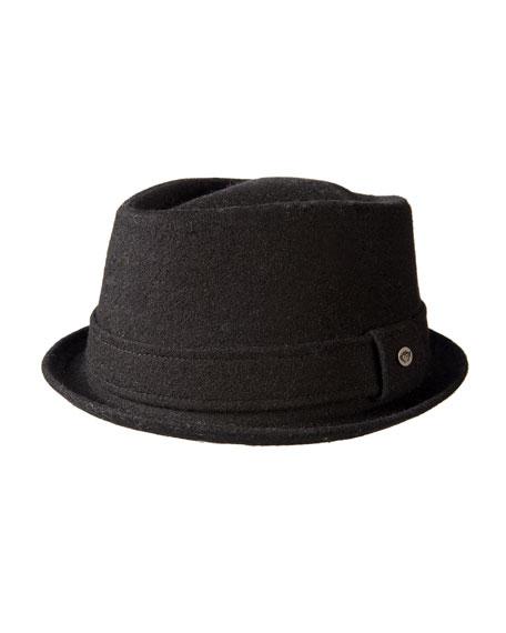 APPAMAN Boys' Porkpie Hat in Black