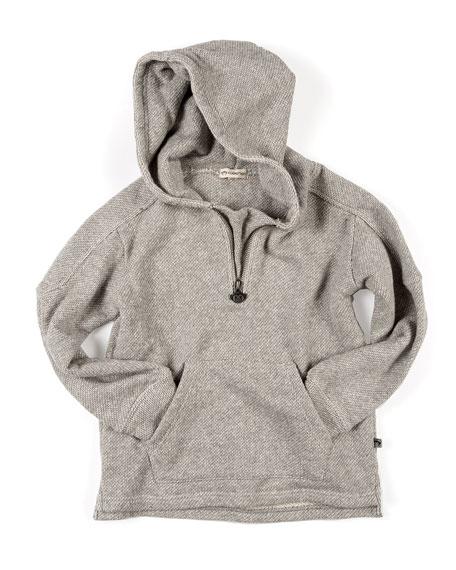 Appaman Half-Zip Herringbone Knit Hoodie, Size 2-10