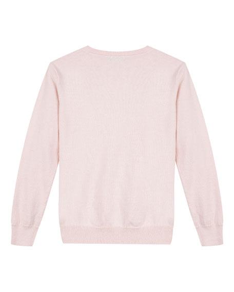 Velvet Logo Sweatshirt, Size 4-6