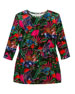 Jungle-Print Long-Sleeve Velour Dress, Size 4-6