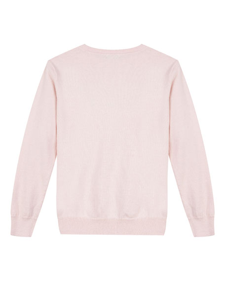 Velvet Logo Sweatshirt, Size 8-12